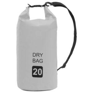 Bolsa impermeável 20 L PVC cinzento - PORTES GRÁTIS