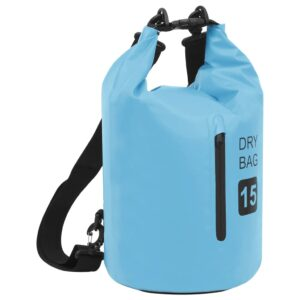 Bolsa impermeável com fecho 15 L PVC azul - PORTES GRÁTIS