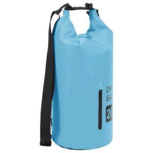 Bolsa impermeável com fecho 20 L PVC azul - PORTES GRÁTIS