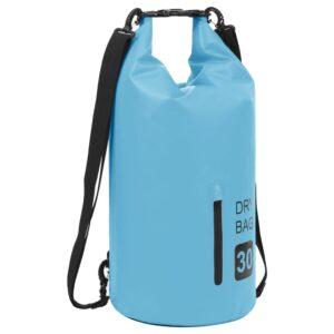 Bolsa impermeável com fecho 30 L PVC azul - PORTES GRÁTIS