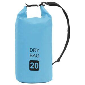 Bolsa impermeável 20 L PVC azul - PORTES GRÁTIS
