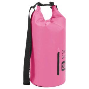 Bolsa impermeável com fecho 20 L PVC rosa - PORTES GRÁTIS