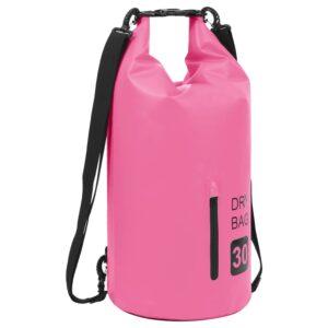 Bolsa impermeável com fecho 30 L PVC rosa - PORTES GRÁTIS