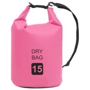 Bolsa impermeável 15 L PVC rosa - PORTES GRÁTIS