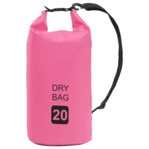 Bolsa impermeável 20 L PVC rosa - PORTES GRÁTIS
