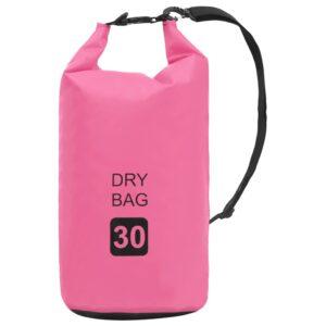 Bolsa impermeável 30 L PVC rosa - PORTES GRÁTIS