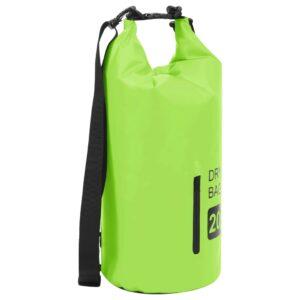 Bolsa impermeável com fecho 20 L PVC verde - PORTES GRÁTIS