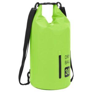 Bolsa impermeável com fecho 30 L PVC verde - PORTES GRÁTIS