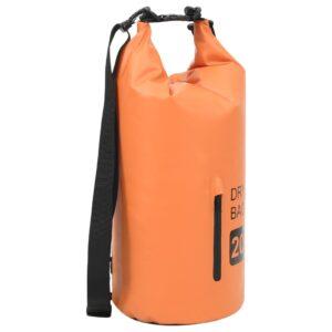 Bolsa impermeável com fecho 20 L PVC laranja - PORTES GRÁTIS