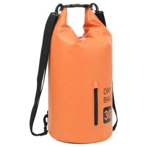 Bolsa impermeável com fecho 30 L PVC laranja - PORTES GRÁTIS
