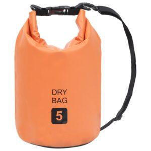 Bolsa impermeável 5 L PVC laranja - PORTES GRÁTIS