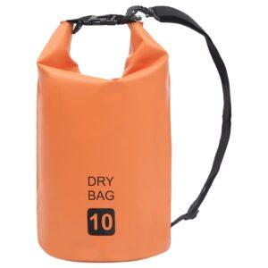 Bolsa impermeável 10 L PVC laranja - PORTES GRÁTIS