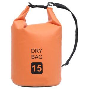 Bolsa impermeável 15 L PVC laranja - PORTES GRÁTIS