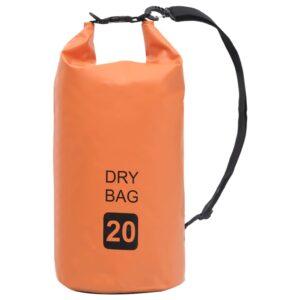 Bolsa impermeável 20 L PVC laranja - PORTES GRÁTIS