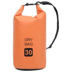 Bolsa impermeável 30 L PVC laranja - PORTES GRÁTIS