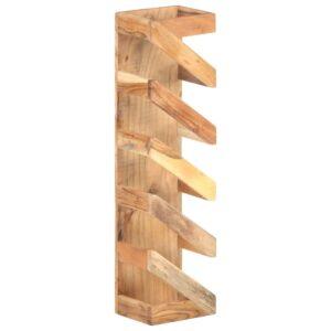 Garrafeira para 5 garrafas em madeira de acácia maciça - PORTES GRÁTIS