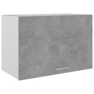Armário de parede 60x31x40 cm contraplacado cinza cimento - PORTES GRÁTIS
