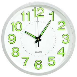 Relógio de parede luminoso 30 cm branco - PORTES GRÁTIS