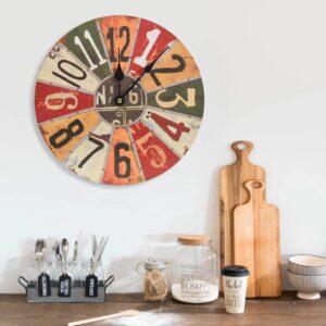 Relógio de parede 30 cm MDF multicor - PORTES GRÁTIS