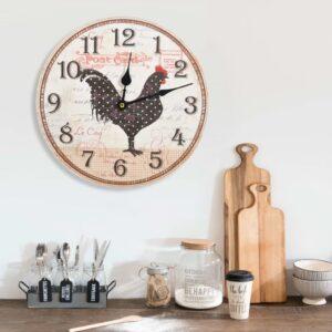 Relógio de parede com desenho de galinha 30 cm MDF multicor - PORTES GRÁTIS