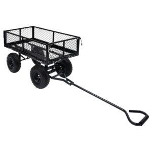 Carrinho de mão para jardim 250 kg preto - PORTES GRÁTIS