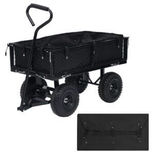 Revestimento p/ carrinho de jardim 86x46x22 tecido preto - PORTES GRÁTIS