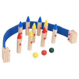 Jogo de bowling pinho maciço multicolorido - PORTES GRÁTIS