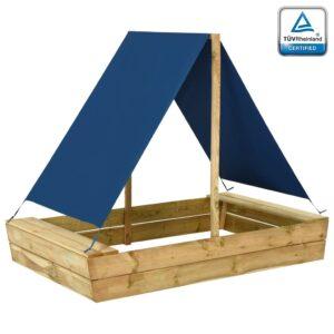 Caixa de areia c/ telhado 160x100x133 cm pinho impregnado - PORTES GRÁTIS