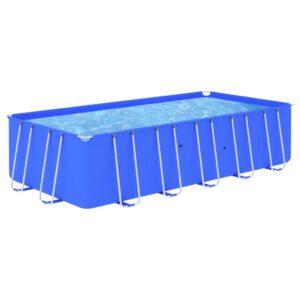 Piscina com estrutura de aço 540x270x122 cm azul - PORTES GRÁTIS