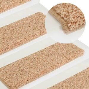 Tapete/carpete para degraus 15 pcs 65x25 cm dourado - PORTES GRÁTIS