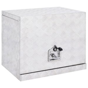Caixa de alumínio 62x40x50 cm prateado - PORTES GRÁTIS