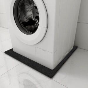 Tapete antivibração para máquina de lavar 60x60x0,6 cm preto - PORTES GRÁTIS