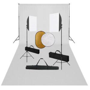 Kit estúdio fotográfico com softbox iluminação/fundo/refletor - PORTES GRÁTIS