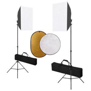 Kit estúdio fotográfico com softbox iluminação e refletor - PORTES GRÁTIS