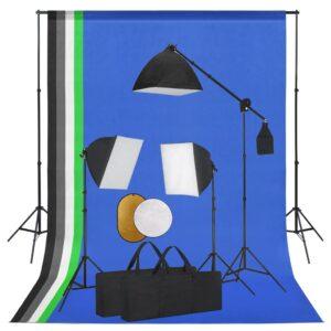 Kit estúdio fotográfico com iluminação/fundo/refletor - PORTES GRÁTIS