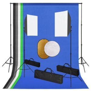 Kit estúdio fotográfico com lâmpadas/fundo/refletor - PORTES GRÁTIS