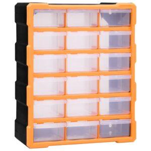 Caixa organizadora com 18 gavetas médias 38x16x47 cm - PORTES GRÁTIS