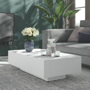 Mesa de centro 115x60x31 cm contraplacado branco - PORTES GRÁTIS