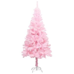 Árvore de Natal artificial com suporte 120 cm PVC cor-de-rosa - PORTES GRÁTIS