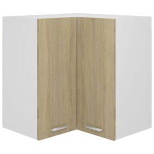 Armário de canto parede 57x57x60 cm contrap. carvalho sonoma  - PORTES GRÁTIS