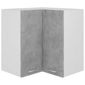 Armário de canto parede 57x57x60 contraplacado cinza cimento - PORTES GRÁTIS