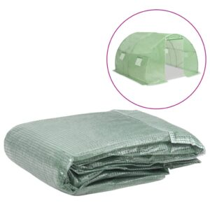 Cobertura de substituição p/ estufas 9 m² 300x300x200 cm verde - PORTES GRÁTIS