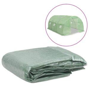 Cobertura de substituição p/ estufas 13,5m² 300x450x200cm verde - PORTES GRÁTIS