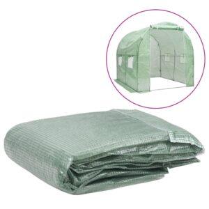 Cobertura de substituição p/ estufas 4 m² 200x200x200 cm verde - PORTES GRÁTIS