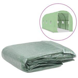 Cobertura de substituição p/ estufas 9 m² 200x450x200 cm verde - PORTES GRÁTIS
