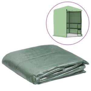 Cobertura substituição p/ estufas 6,5025 m² 255x255x194cm verde - PORTES GRÁTIS