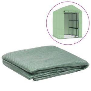 Cobertura substituição p/ estufas 2,0449 m² 143x143x195cm verde - PORTES GRÁTIS