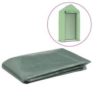 Cobertura de substituição p/ estufas 0,5 m² 50x100x190 cm verde - PORTES GRÁTIS