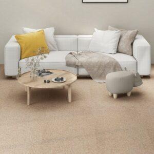 Carpete Para Pisos 16 pcs 4 m² 25x100 cm bege - PORTES GRÁTIS