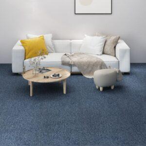 Carpete para pisos 16 pcs 4 m² 25x100 cm azul - PORTES GRÁTIS
